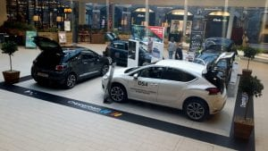automotive exhibition services and marketing stands