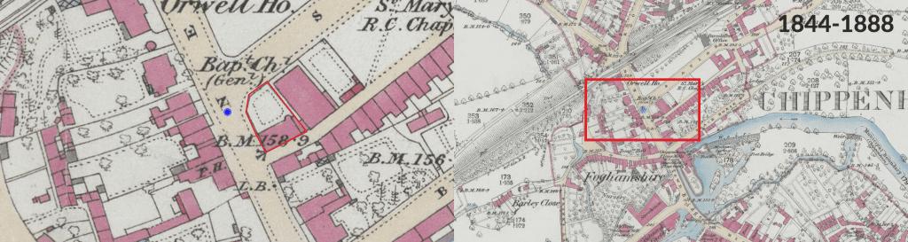 1844 - 1888 History Map