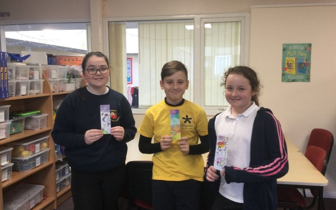Winners of the 'Design a Bookmark' competition
